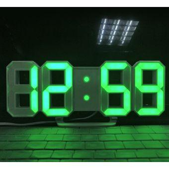 Dise o moderno de gran tama o reloj de pared led digital - Reloj decorativo de pared ...