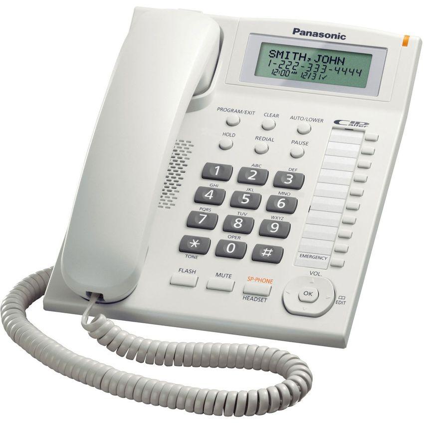 Teléfono Fijo Unilínea Panasonic Kx-t7716 Identificador Auxiliar Blanco