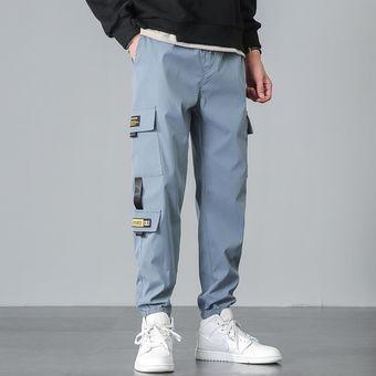 Nuevos Pantalones Casuales De Otono Para Jovenes Leggings Coreanos De Moda Para Hombres Pantalones Harem Para Hombres Wan Sky Blue Linio Colombia Ge063sp16qnxrlco
