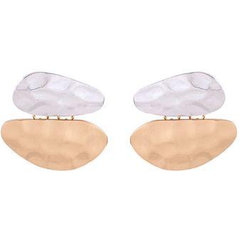 d4840ff5644d Compra EY Moda chicas joyas aretes estilo versátil-Golden+blanco ...