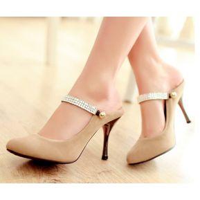 6d2e8678 Zapatos Sandalias De Tacón Tailun-cool Para Mujer- Caqui