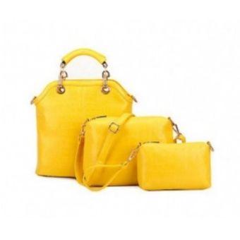 2f0476286 Compra Mujer Los Bolsos De Tres Piezas En Relieve -Amarillo online ...