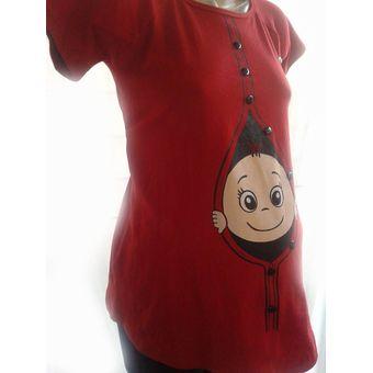 fc9af84ad Compra Blusón Maternidad Estampado Botón online