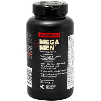 Compra Mega Men Sport Multivitaminico - GNC - 180 capsulas online ... 7464267b523