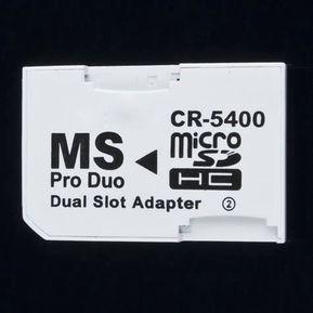 3bd014fa431 ER Nuevo TF Micro SD A MS Pro Duo Memory Stick PSP Doble Tarjeta Adaptador  Convertidor