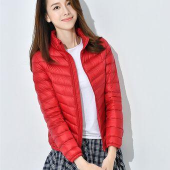 gran venta eda59 96f6a Chaqueta Abrigos De Moda Para Mujer-Rojo