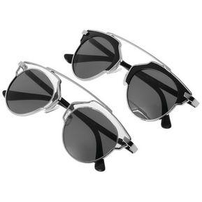 b23fb7eb84 EH De Las Nuevas Mujeres Del Estilo Vintage Retro Moda Gafas De Sol Eyewear  Transparente