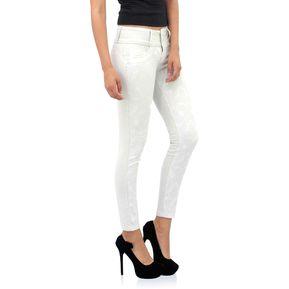 Usafrica - Pantalón Mujer Mix Texturas - Blanco f7abd6ca4970