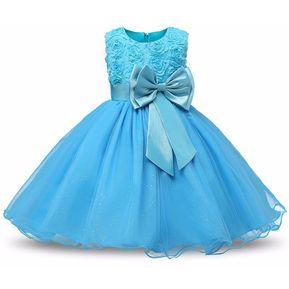 Vestido del arco de la Navidad de los niños - Azul 09603ca97beb