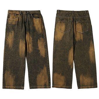 Pantalones Vaqueros De Hip Hop Ropa De Calle De Color Morado Con Lazo Para Hombre Pantalones Vaqueros Holgados De Harajuku Pantalones Bombachos De Otono Hipster Holgados De Hip Hop Xyx A127b075 Khaki