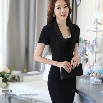 815cf58c95 Trajes Con Chaleco Para Mujer Faldas Y Sacos Formales De Oficina Y Negocio  - Negro