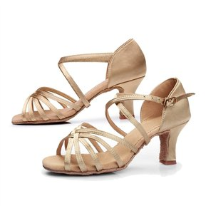 fa83e206 Zapatos De Baile Latino / Tango Para Mujeres, Sole Suave Y 7cm Tacón Medio -