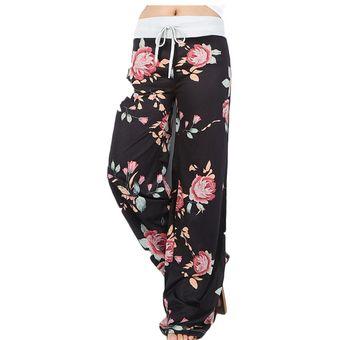 Pantalones Anchos Con Estampado Floral Para Mujer Pantalones Sueltos De Verano Hasta El Tobillo Para Mujer Linio Peru Ge582sp0sqghslpe