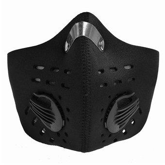 Carbón Anti Tapabocas Polvo Bicicleta Negro Polución Mascara Activado