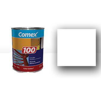 Compra pintura esmalte de 1 gal n 100 mate blanco online for Pintura interior precio