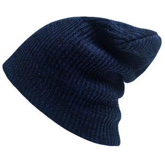 2259cc05af2f0 Autumn Winter Stripe Tejer Sombrero Calido Gorro De Lana (azul Marino)