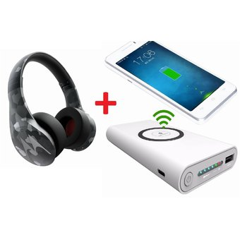 93f31afc278 Motorola - Audifonos Bluetooth Pulse Escape Plus - Camuflado + Power Bank  inalambrico 10000mah