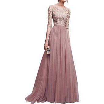 Para m Mujer FiestaLargo Elegantes albaricoque Vestido Vestidos Yb6yfv7g