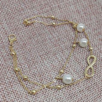 0d58cc27ea3b Compra Moda Perlas Artificiales Joyería Tobillera Para Mujer-oro ...