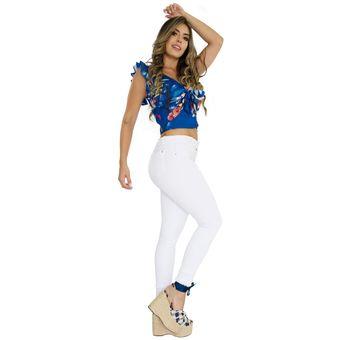 3cd87125a Compra Pantalon Blanco Mujer Pink Star Jeans Levantacola Colombianos ...