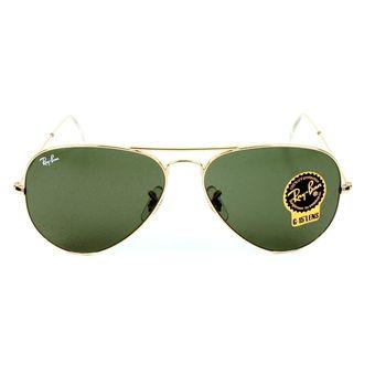 ebba739dd6 Compra Anteojos de sol Ray-Ban Aviator 3025 L0205 - Verde online ...