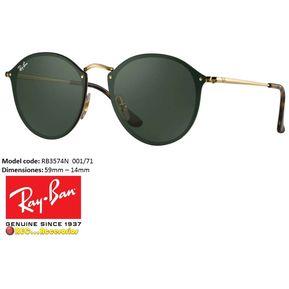 Gafas de sol Rayban® Rb3574n Blaze Round Verde 58mm Originales b0dbe2b687
