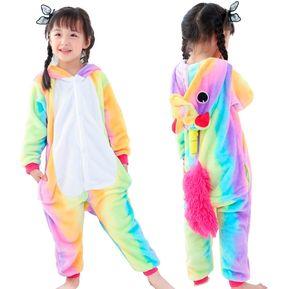 c8668fd48c9 Pijama Mameluco De Unicornio Cosplay Arcoirirs Niño-L