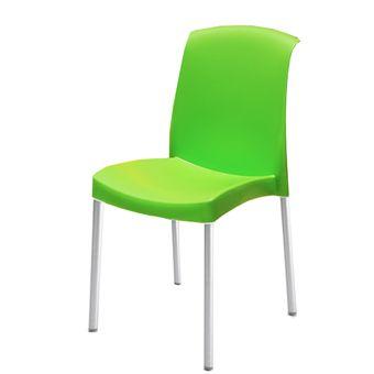 Compra silla diplastica monaco sin brazos elegante verde for Sillas plasticas modernas