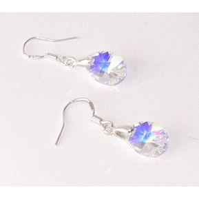 4c265cab20f9 Aros de Gotas con Cristales de Swarovski Aurora Boreal