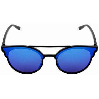 ccb9da5657 Agotado Lentes De Sol Cat Eyes Con Micas Tornasol Azul Protección UV 400  Armazon Color Negro