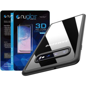 c18cf6c4103 Pack Carcasa + Vidrio para Galaxy S10 IPAKY ULTRA HYBRID Negro