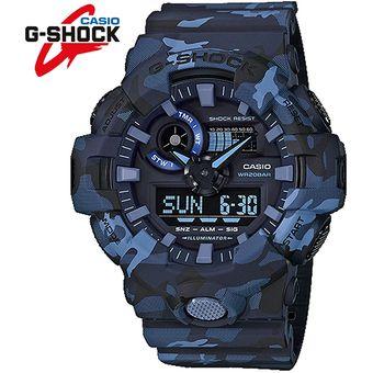 6019ff1ebea2 Agotado Reloj Casio G-Shock GA700CM-2A Digital Analógico Luz Automática  Acuatico - Azul