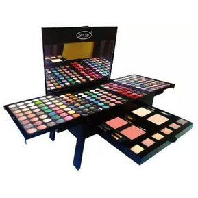 f04e71c8f7 Paleta Set Kit Maquillaje Sombras + Labiales + Rubores 195 Pzs Modelo Piano