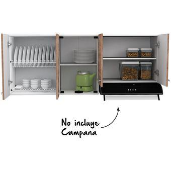 Mueble Para Cocina Superior 1.50 Metros Sicilia 6 Puertas Miel Rta
