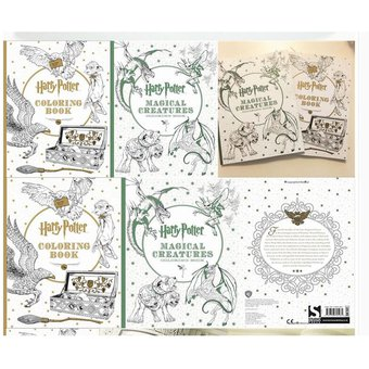 96 Páginas Harry Potter Libro Para Colorear Para Adultos Secret Garden Book Series Libros Para Colorear Adultos Para Colorear