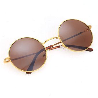26f497cb16 Compra Gafas de Sol Lentes Redondos Moda UV Unisex - Café online ...