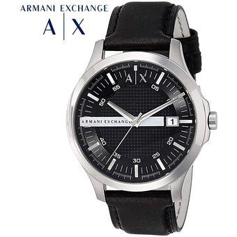2e447f82112 Reloj Armani Exchange AX2101 Acero Inoxidable Correa De Cuero - Plateado  Negro