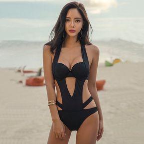 39a7e547799a8 Verano Bikini De Mujer Sexy Monokini Traje De Baño Playa Sin Respaldo
