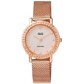 6a69ad8ae6c8 Reloj Q Q QB45J011Y Para Dama Oro Rosa Lujoso Pulso en Malla