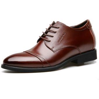 muchas opciones de Zapatillas 2018 comprar el más nuevo Zapatos De Vestir Hombre Plantilla Alta - Marrón