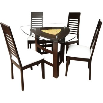 compra juego de comedor de 4 sillas hoja 4 online linio per