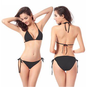 2bf4f9e071ad Traje De Baño 2 Piezas Bikini Playa - Negro
