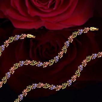 charm colorido cubic zirconia joyera diseo k chapado en oro cristalino de lujo de la pulsera