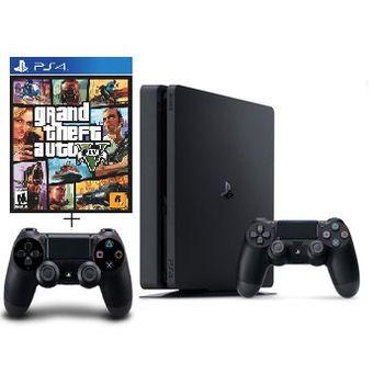 Compra Consola Playstation 4 Slim 1tb Juego Gta V Control