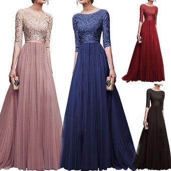 bc7bfe51 Compra Vestido Casual Generico Gasa Vestido Falda larga - Azul ...
