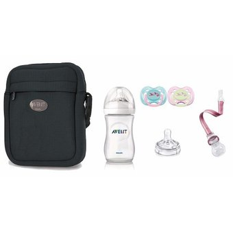 Combo Avent Bolso Térmico Thermabag + Set 0-6m Natural