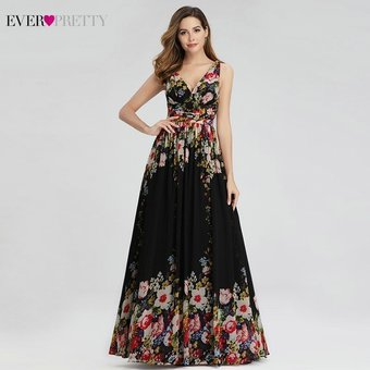 Vestidos De Noche Bonitos Y Elegantes Con Estampado Floral Vestidos