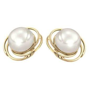 21c17a9e4818 Compra Aretes Cristal Joyas Oro 14k Con Perlas online
