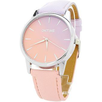 95748292a904 Agotado BLACK MAMUT Reloj Análogo Para Mujer Carátula Vintage De Doble  Modelo Graded - Color Rosa Y