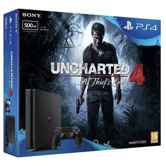 Sony PlayStation 4 Slim 500GB Consola Uncharted 4